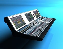 Audio mixing board Lawo MC2-56 3D model