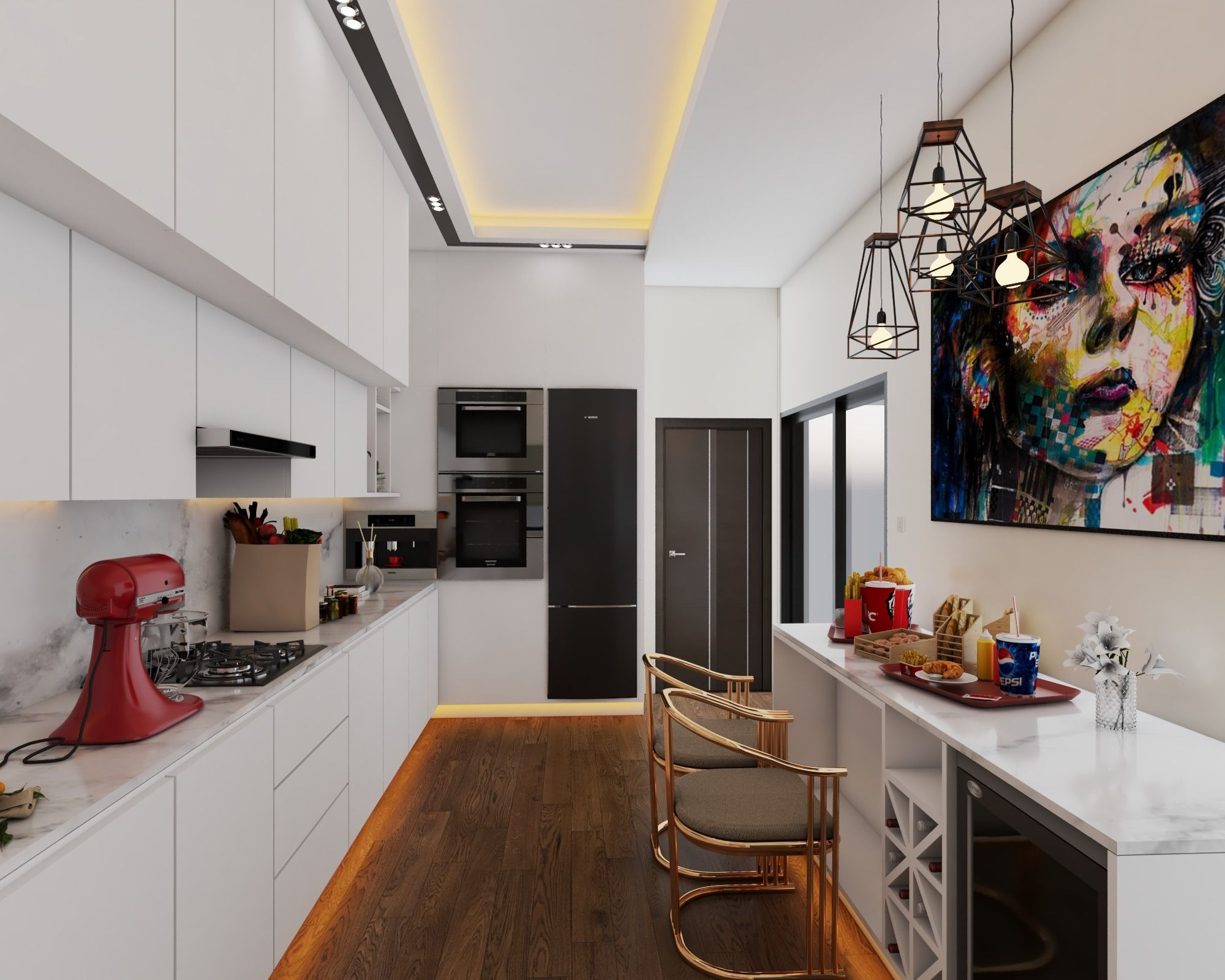 RESIDENTIAL KITCHEN VISUALIZATION
