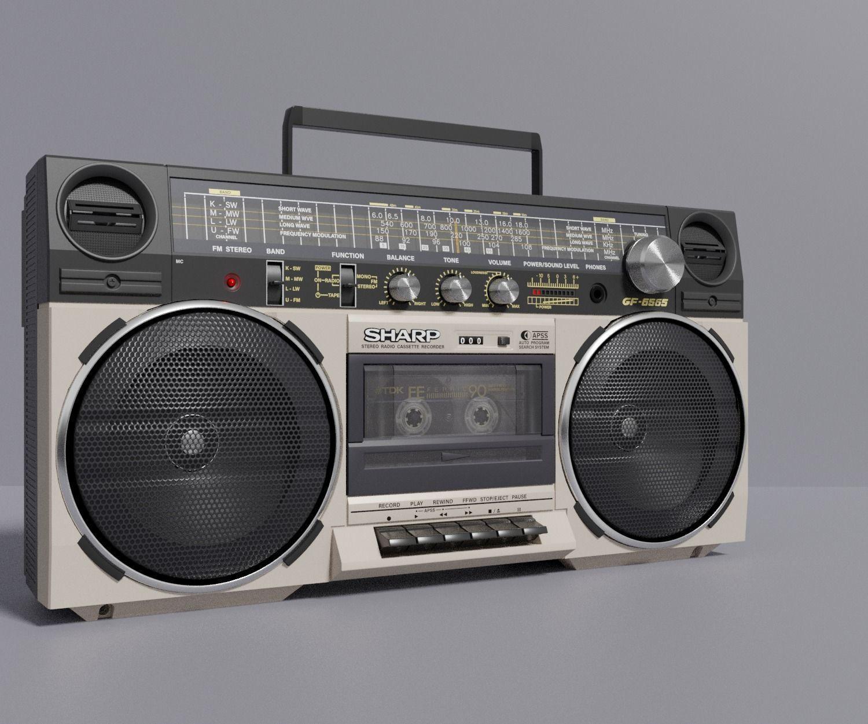 Retro Boom Box Ghetto Blaster