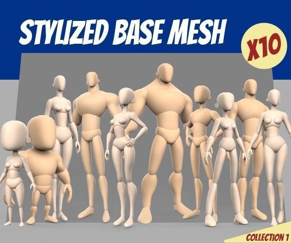Stylized Basemesh Collection