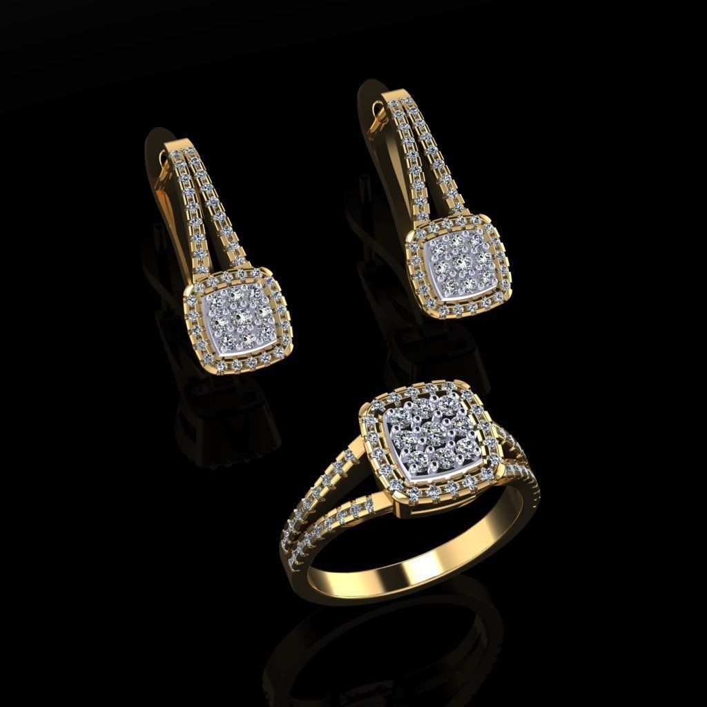 Ring and Earrings 75