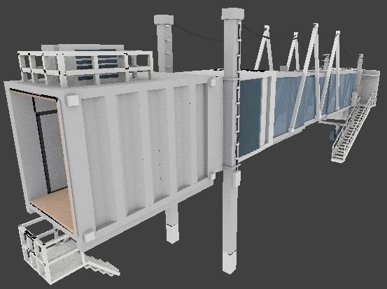 Airport Jetway 3d Model Cgtrader