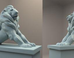 3d printable model paris denfert lion