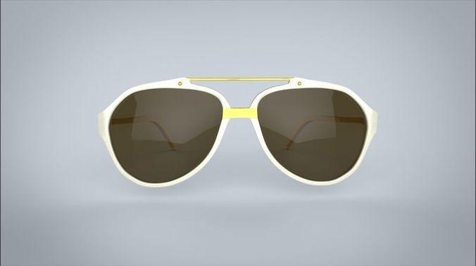 sunglasses linda farrow 3d model max obj mtl fbx 1