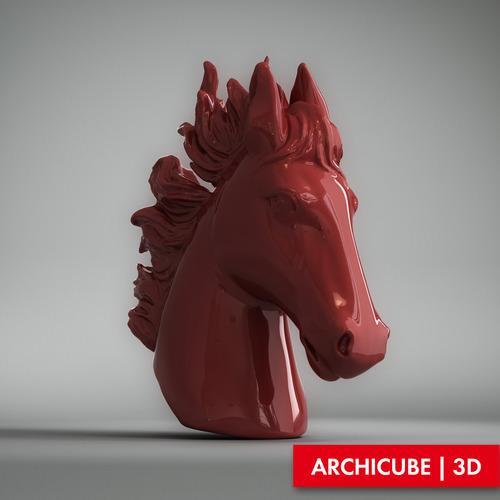 Decorative Horse Head3D model