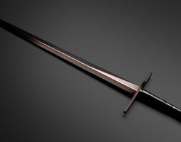 3D model Knight Sword