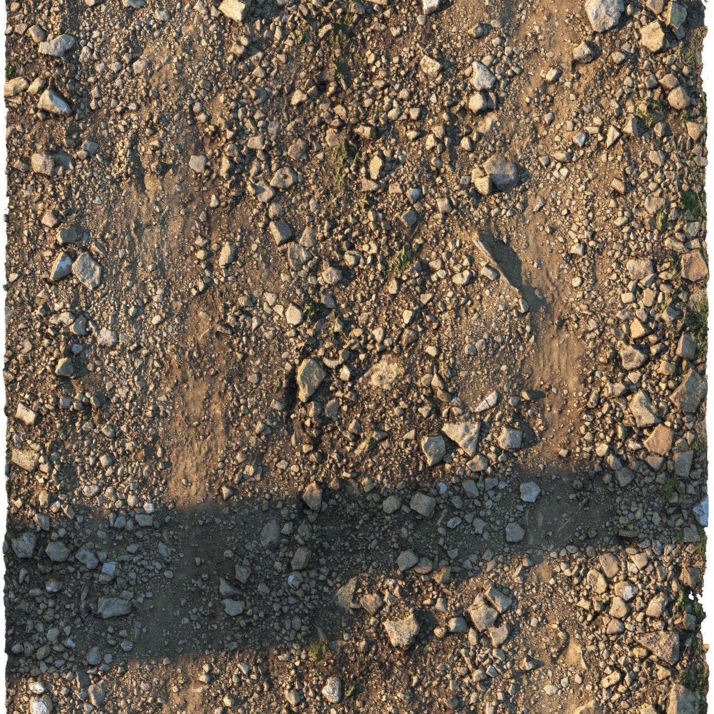 Rocky narrow road material