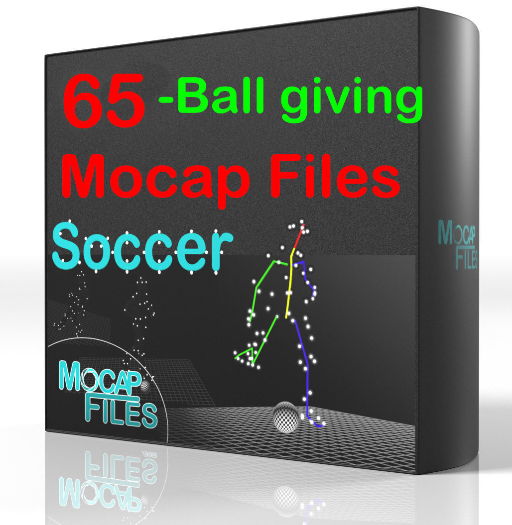 3-Soccer football motion capture animations - Ball giving -