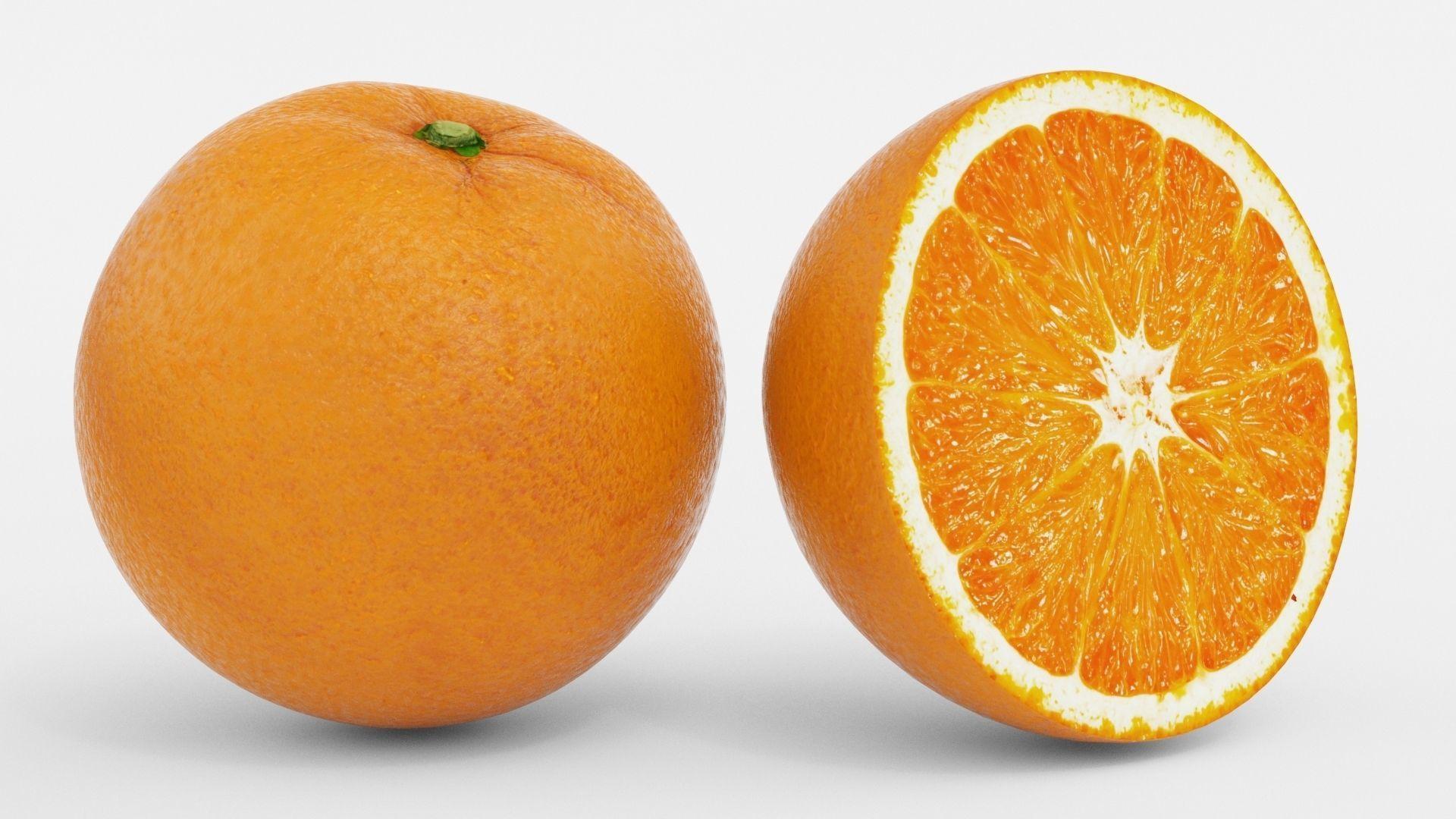 Realistic Orange Fruit