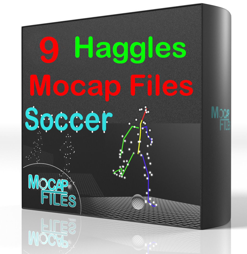 6-Soccer football motion capture animations - Haggles -