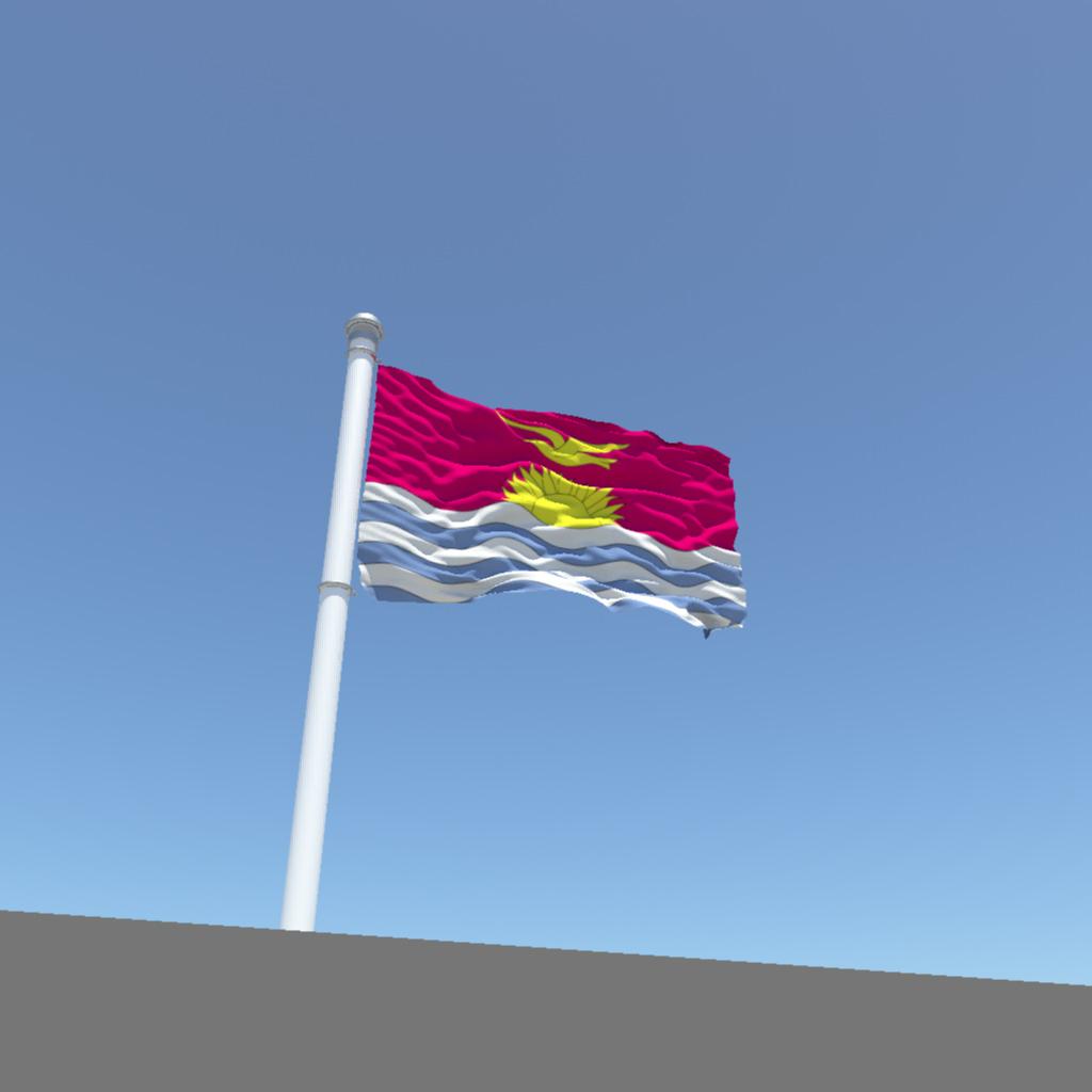 Antique kitchen cabinets - Kiribati Flag 3d Model Obj Fbx Ma Mb Cgtrader Com