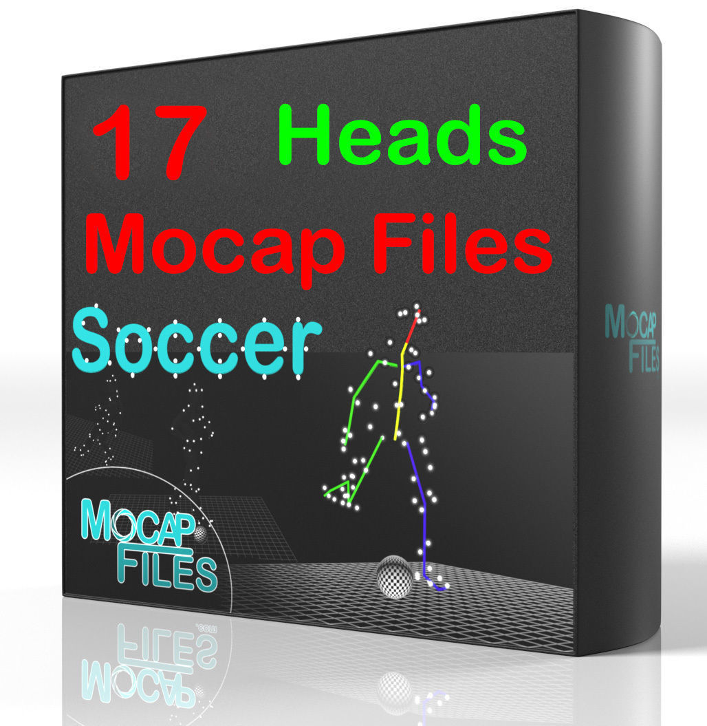 7-Soccer football motion capture animations - Heads -
