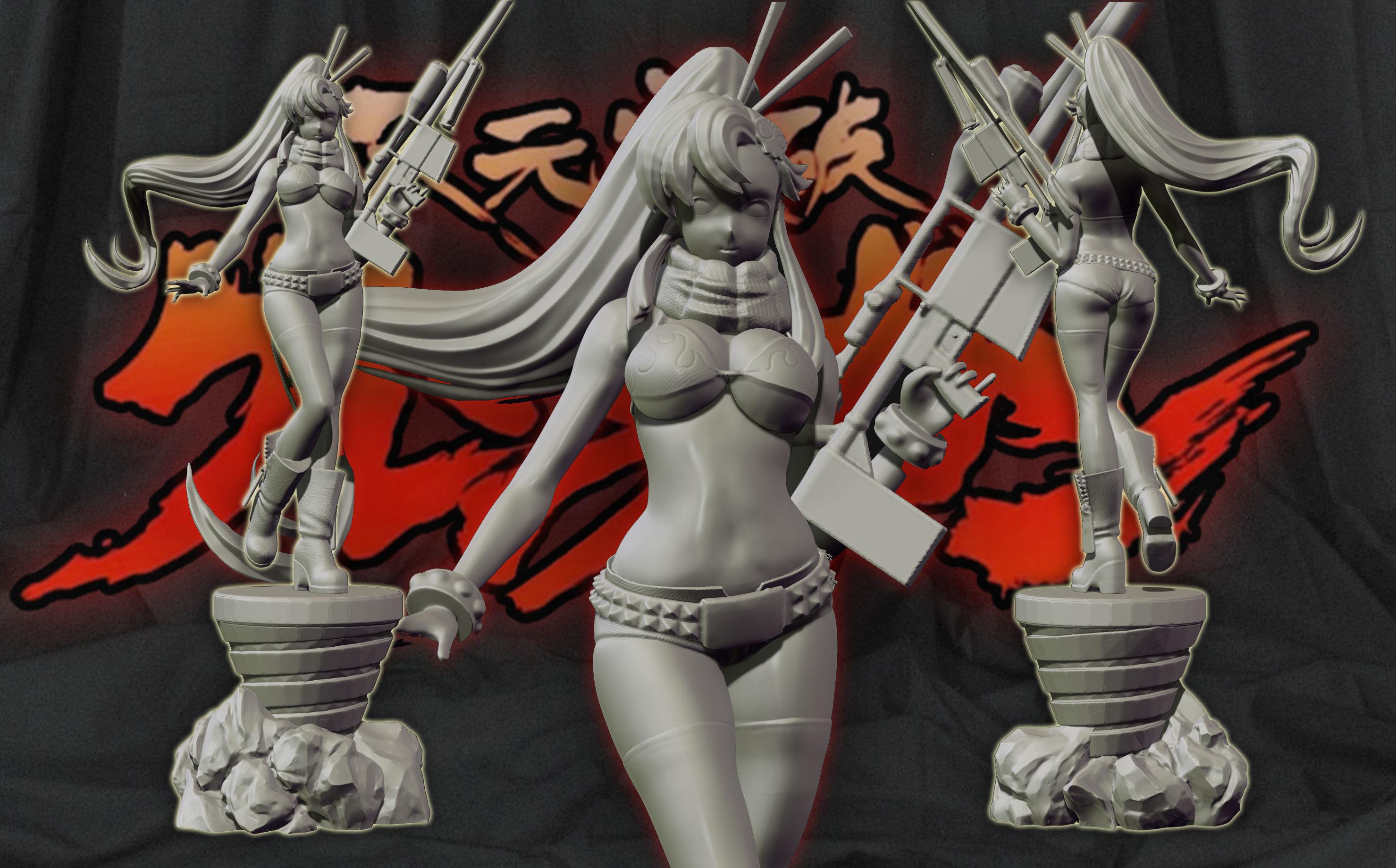 Yoko Littner - gurren lagann 3d print figurine