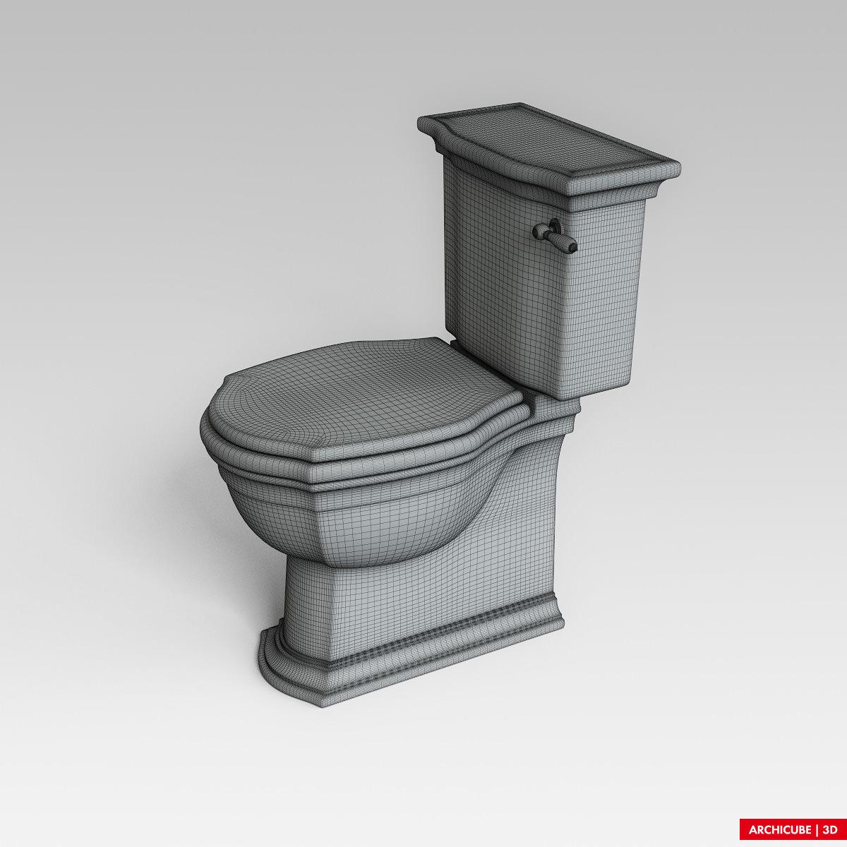Toilet wc 3d model max obj fbx - Toilet model ...