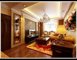 Comfortable Living Room 3D model