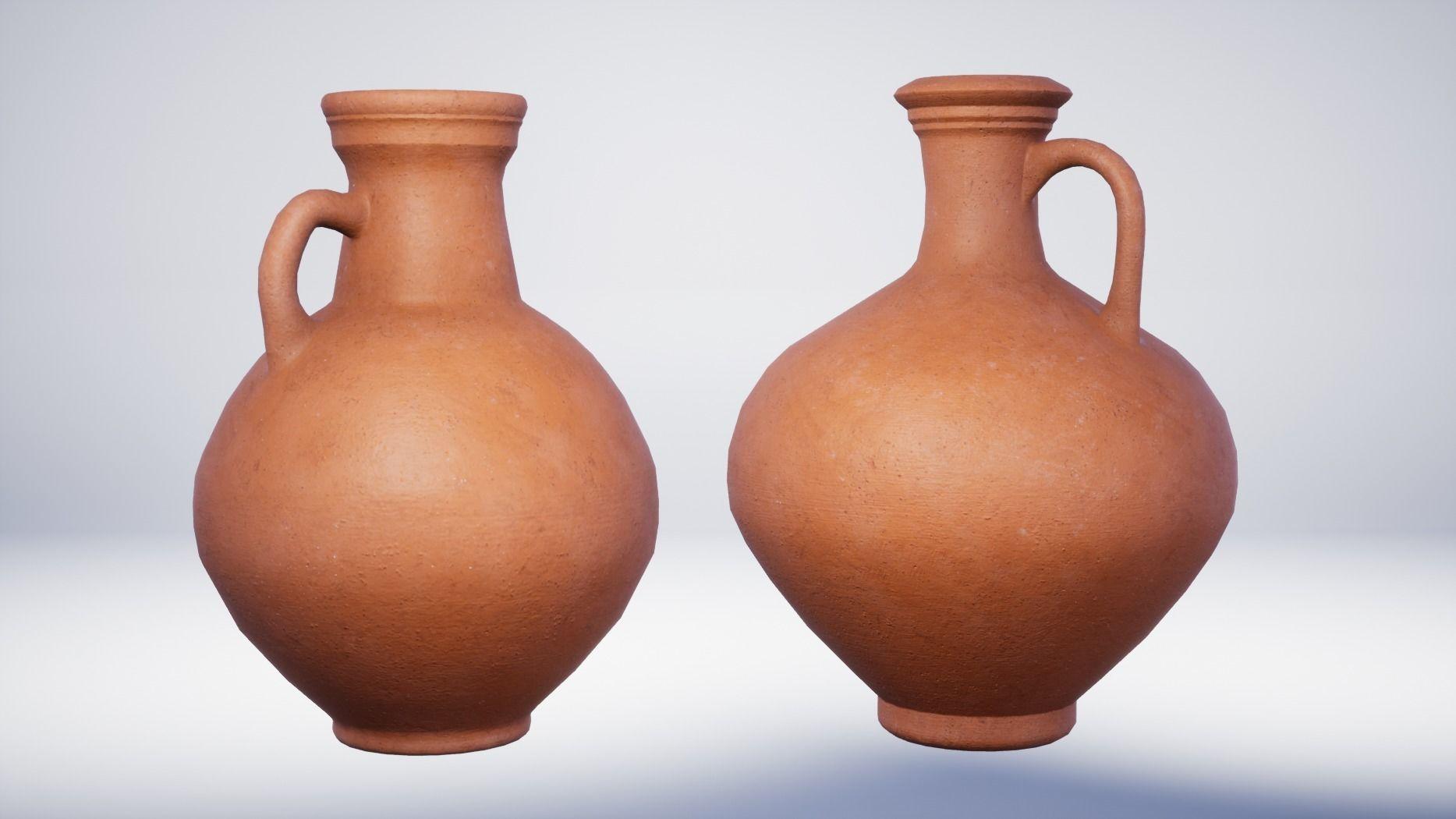 Roman Terracotta Flagons - 2 Variations