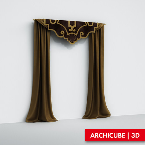 Curtains3D model