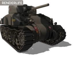 Sherman Tank M4A1 3D Model