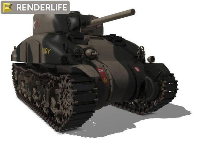 Sherman Tank M4A13D model