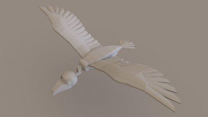 Vulture 3D Model Lowpoloy
