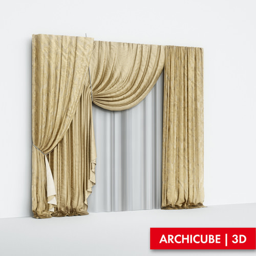 Curtains Silk3D model