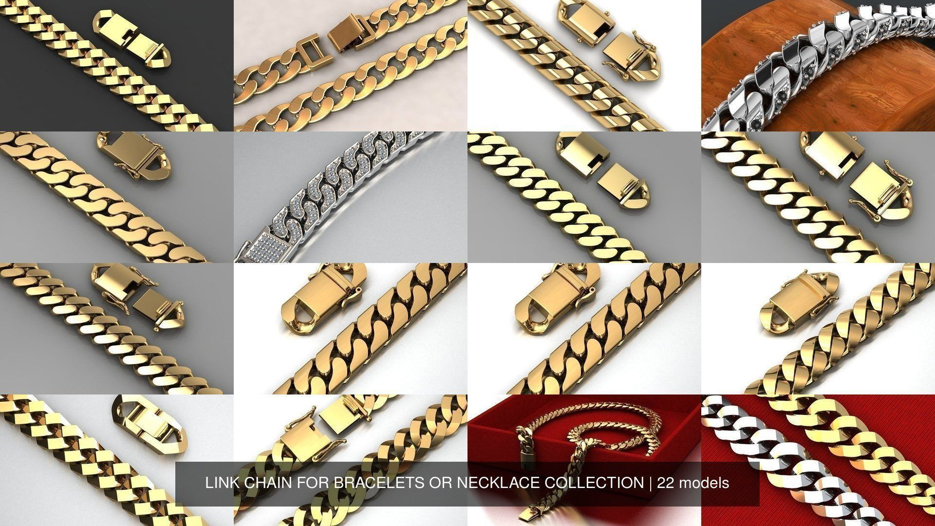 CUBAN LINK CHAIN FOR BRACELETS OR NECKLACE COLLECTION