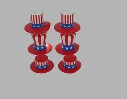 USA Hat Pack 3D model