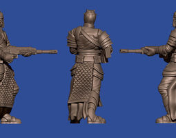28mm squad of sci-fi arab soldiers 3d print model