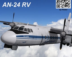 Antonov bureau AN-24RV 3D Model
