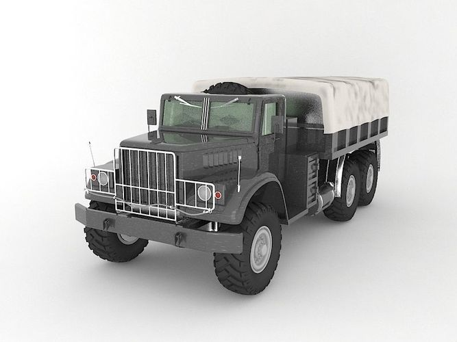 truck military 3d model max obj mtl 3ds fbx 1