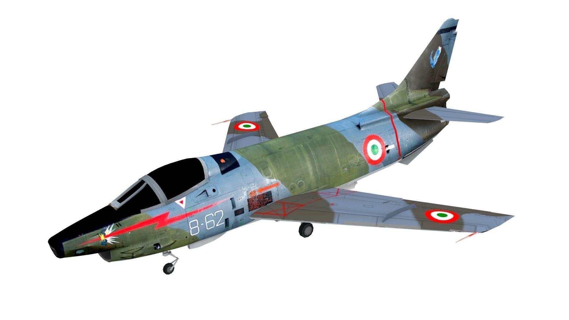 Lowpoly Fiat G91Y Aircraft