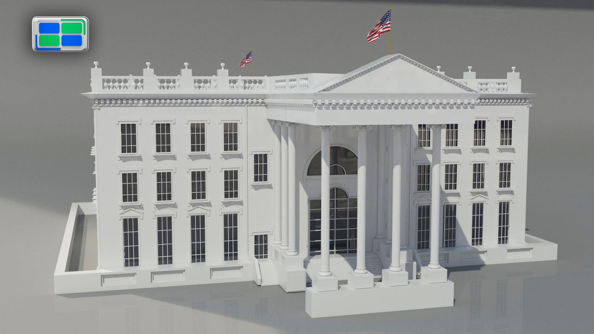 White House 3d Model