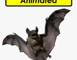 3d asset animated game-ready vampire dark bat