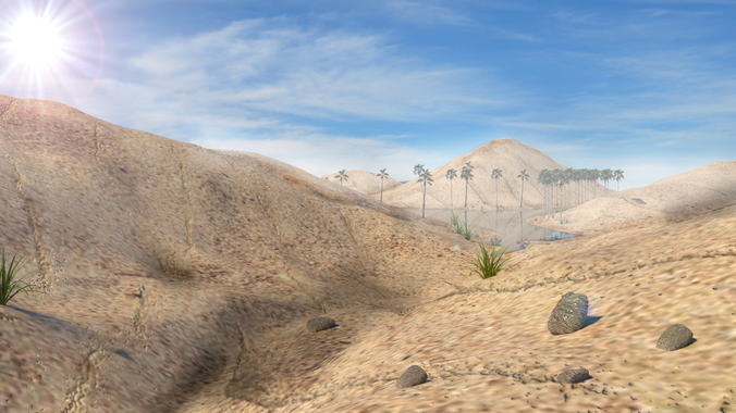 Desert Scene3D model