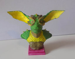 creature bust 3d printable model