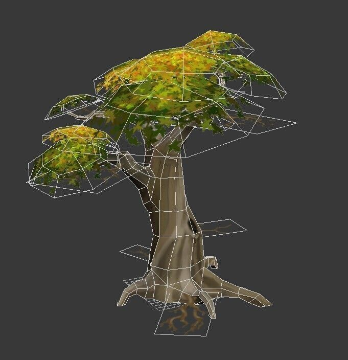 Tree Low Poly Free Vr Ar Low Poly 3d Model Max Obj 3ds