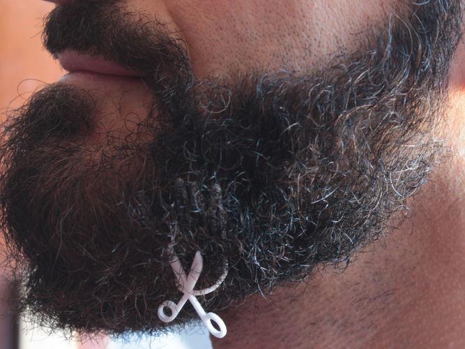 scissors for beard - lateral wearing 3d model stl 1