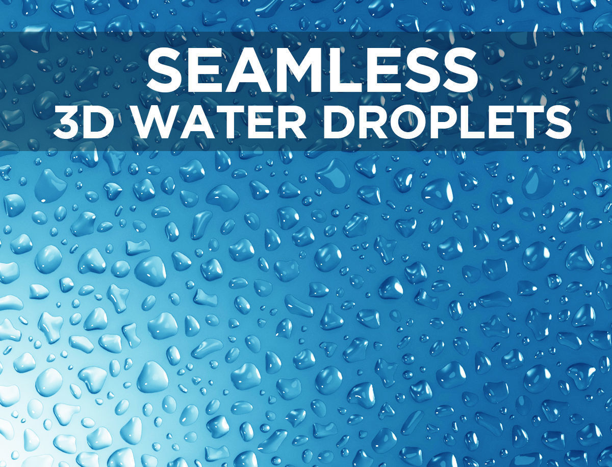 Liquid droplets bundle - Seamless patch of water drops