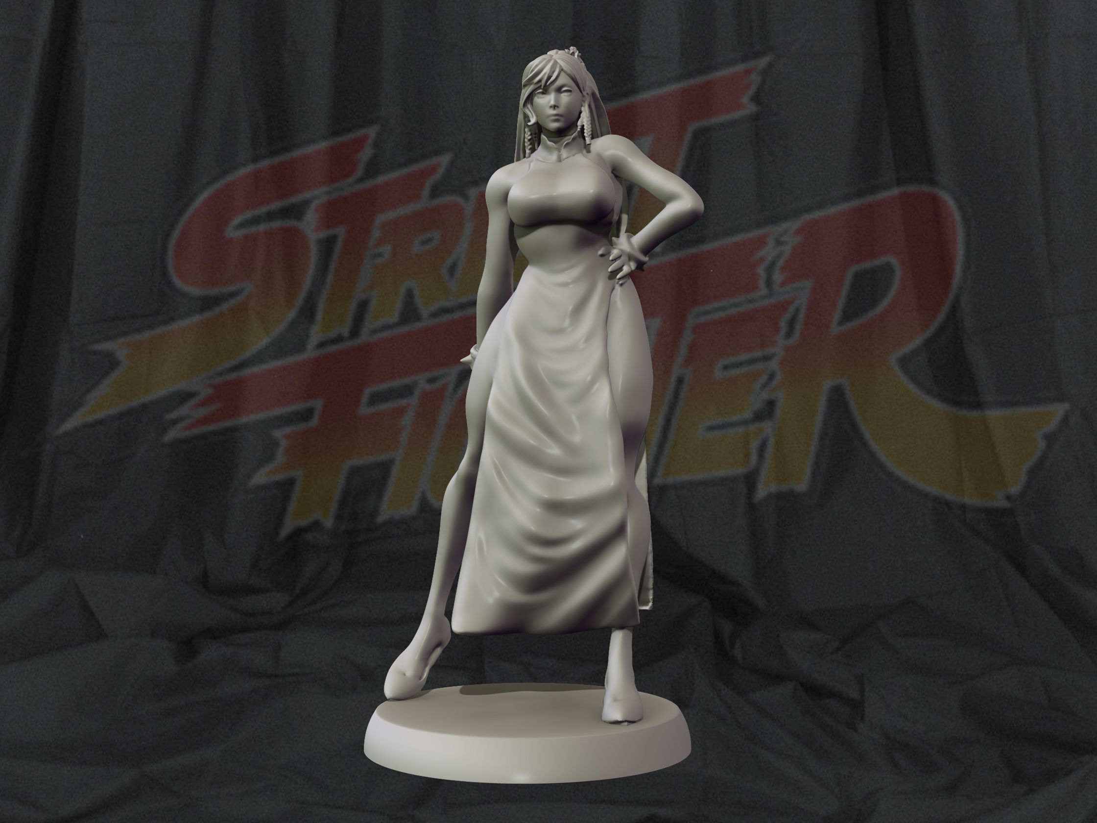Chun Li Street fighter 3d print figurine