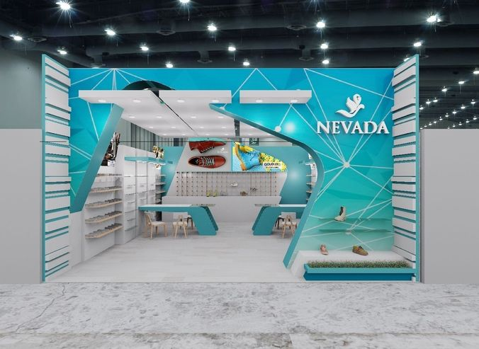 Expo Exhibition Stands Price : Expo booth d model cgtrader