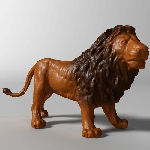 lion 3d 3d model max obj mtl fbx stl ztl 1