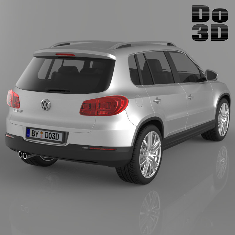Suv Volkswagen: Volkswagen Tiguan 2013 SUV 3D Model .max .obj .3ds .fbx