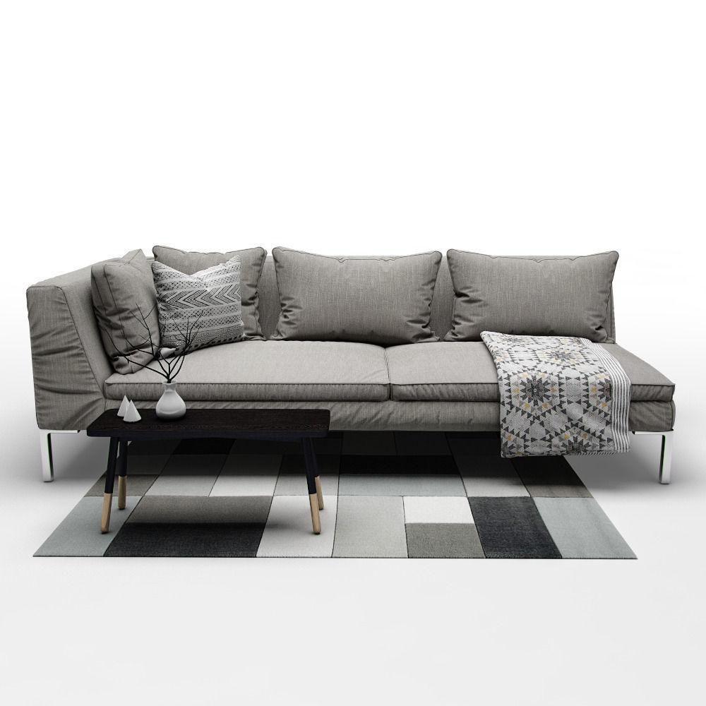 Sofa B And B Italia Charles 3d Model Max Obj Fbx