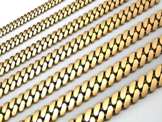 7 SIZE CUBAN LINK CHAIN FOR BRACELETS OR NECKLACE