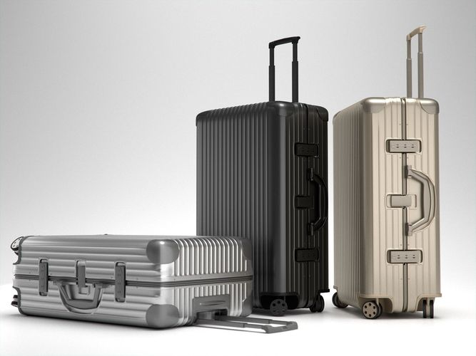 rimowa topas multiwheel trolley bag 3d model max obj mtl fbx 1