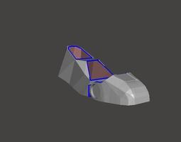 iron man boot  3d print model