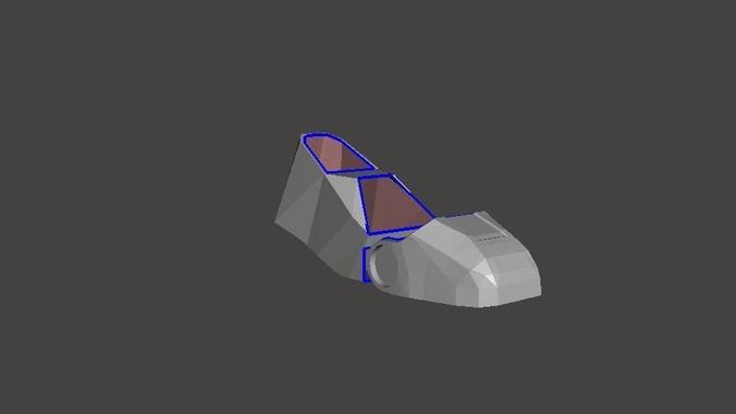 iron man boot  3d model obj mtl 1