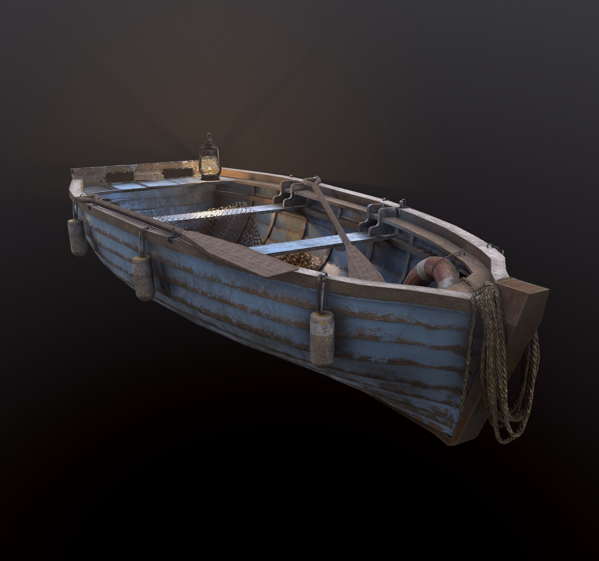 Fishing Boat with tools