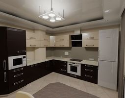 3D model household Kitchen