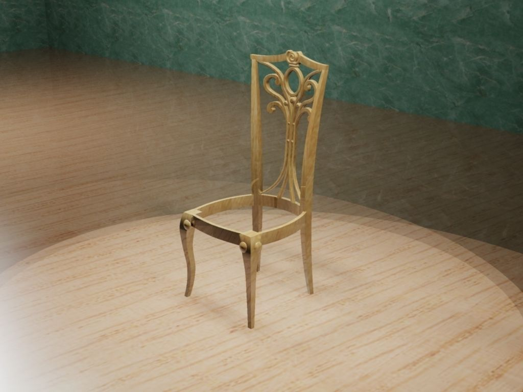 Without Seat Chair 3d Model 3d Printable Stl Dwg